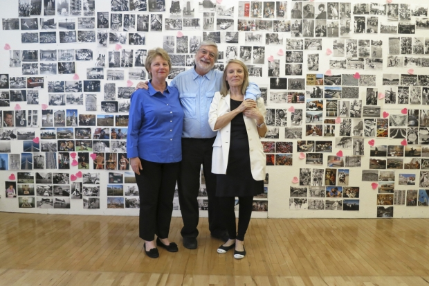 "June 24th, 2013. NYC Laffont studio: left to right Marta Hallett, CEO of Glitterati Inc, JP and Eliane Laffont in front of the selected photos of the ""Photographer's Paradise"" book."