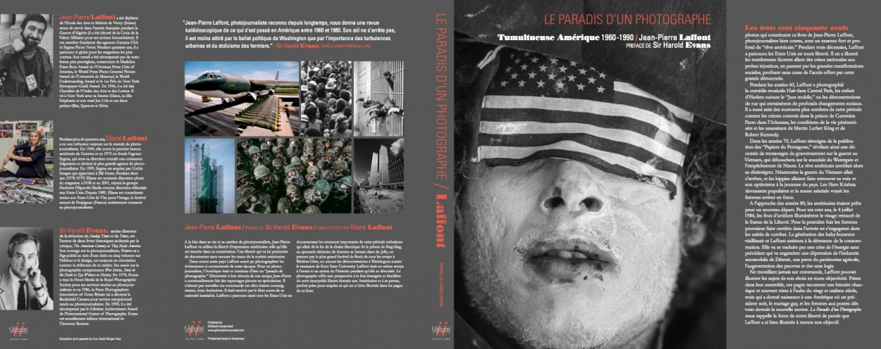 The book jacket for 'Photographer's Paradise: Turbulent America 1960-1990'.