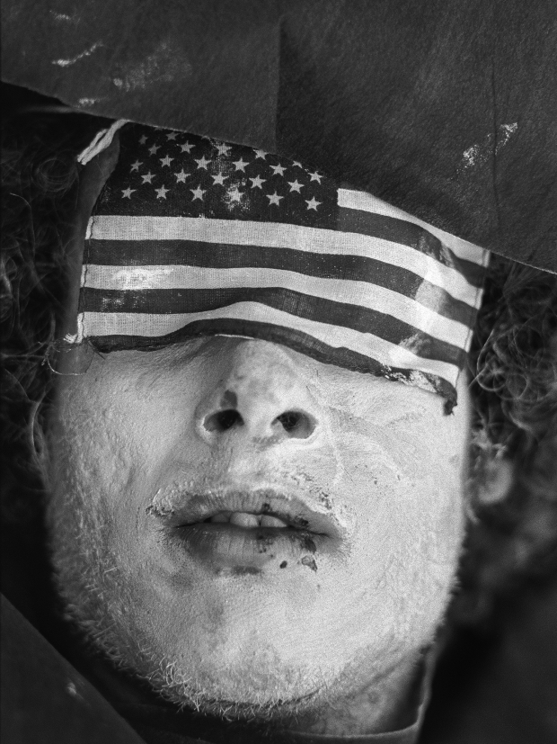 Miami, FL. August 23rd 1972. Outside of the 1972 30th Republican Convention, during President Richard Nixon's reelection campaign, demonstrators wearing costumes and makeup perform scenes of death and suffering in opposition to the Vietnam War. Several thousand Women's Lib protesters led by Jane Fonda, having just returned from her North Vietnam tour, and the Vietnam Veterans also protested. No clashes with police were reported.